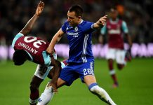 John Terry against West Ham